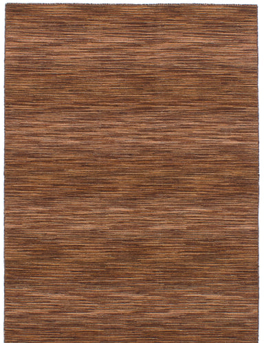 Flat-weave Indian Bohemian  Stripes Manhattan Area rug  Brown 4.8 x 6.6