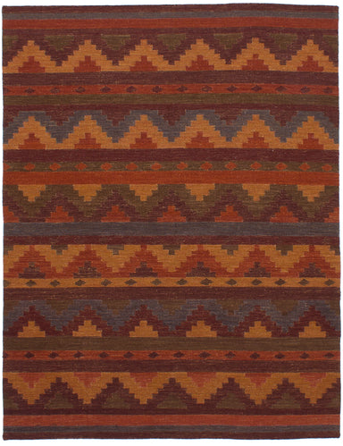 Flat-weave Area rug Flat-weaves & Kilims, Southwestern, Transitional Red