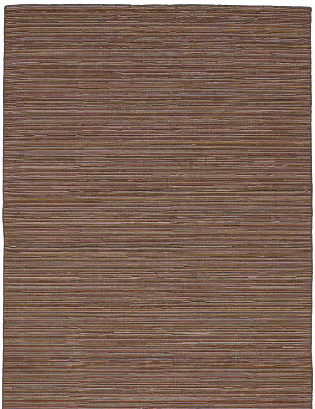 Flat-weave Indian Flat-weaves & Kilims  Transitional Manhattan Area rug  Brown 4.6 x 6.7