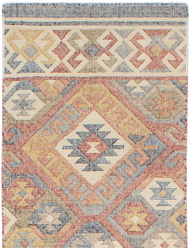 Flat-weave Turkish Flat-weaves & Kilims  Transitional Kozak-17109 Runner rug  Red 2.6 x 8