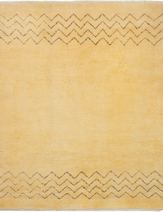 Hand-knotted moroccan Moroccan  Transitional Royal-Maroc Area rug  Cream 8.1 x 9.6