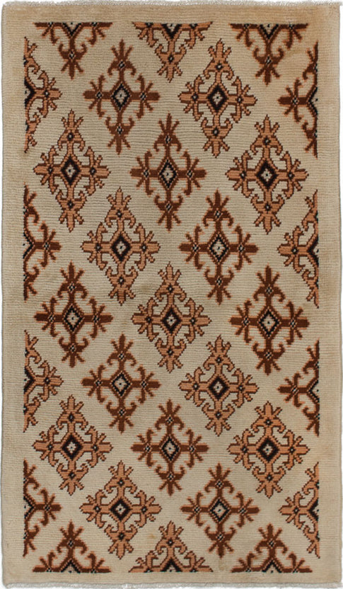 Hand-knotted moroccan Casual  Moroccan Royal-Maroc Area rug  Cream 2.1 x 4.11