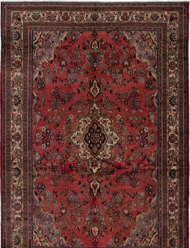 Hand-knotted  Bordered  Traditional Hamadan Area rug  Dark Copper 6.1 x 10