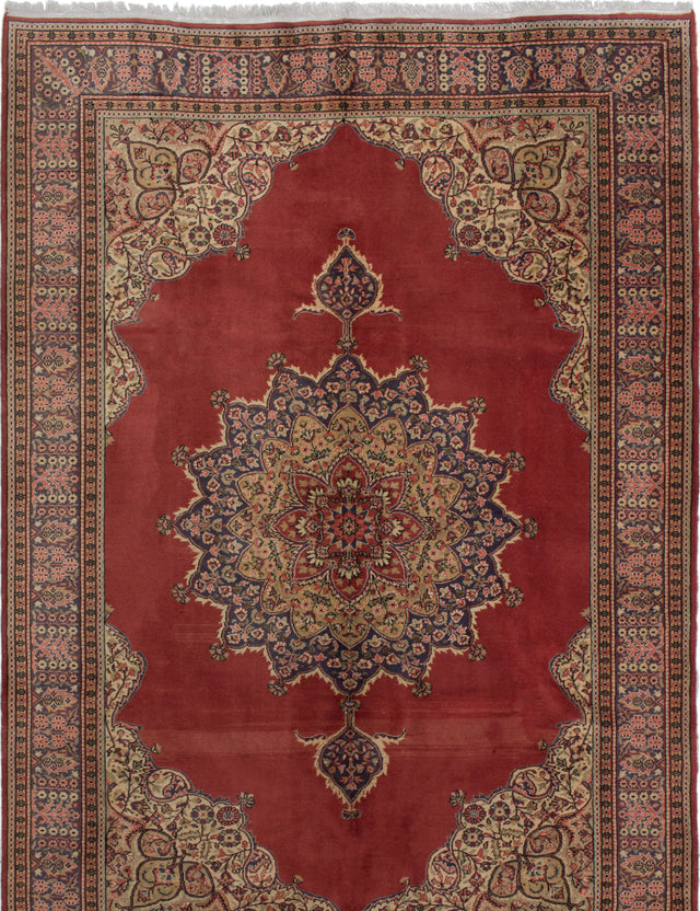 Hand-knotted Area rug Bordered, Traditional, Vintage Red