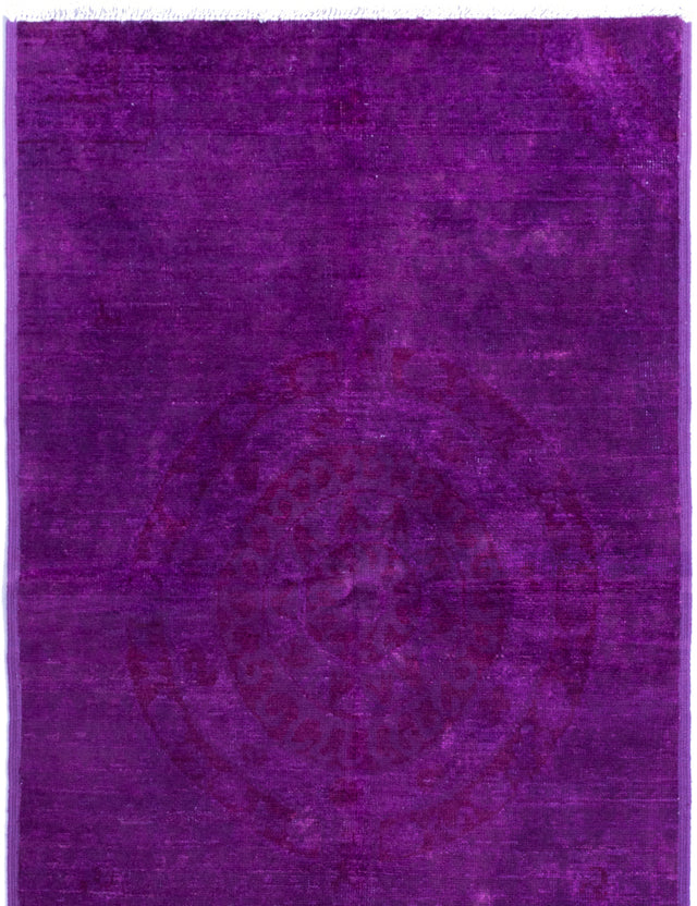 Hand-knotted Indian Casual  Transitional Vibrance Area rug  Purple 5 x 8