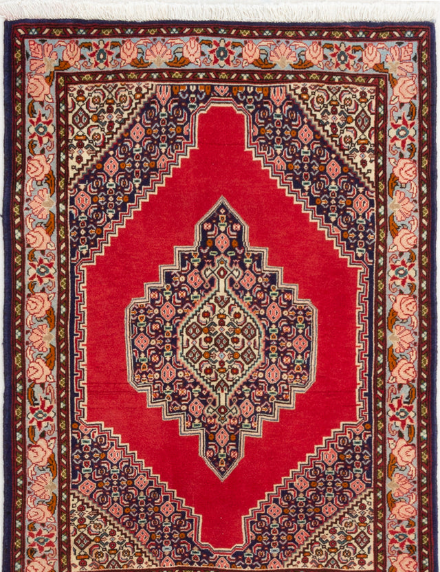 Hand-knotted  Bordered  Traditional Bijar Area rug  Dark Copper 2.9 x 3.1