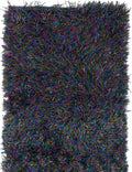 Hand-knotted Indian Casual  Plush & Shags Retro-Plush Area rug  Blue, Purple 3 x 5