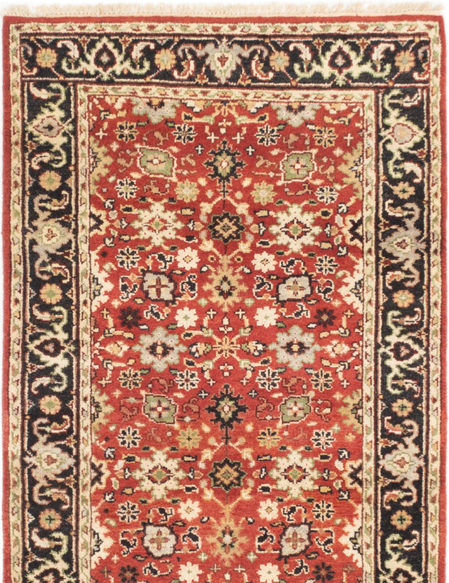 Hand-knotted Indian Bordered  Traditional Serapi-Heritage Area rug  Red 4 x 6