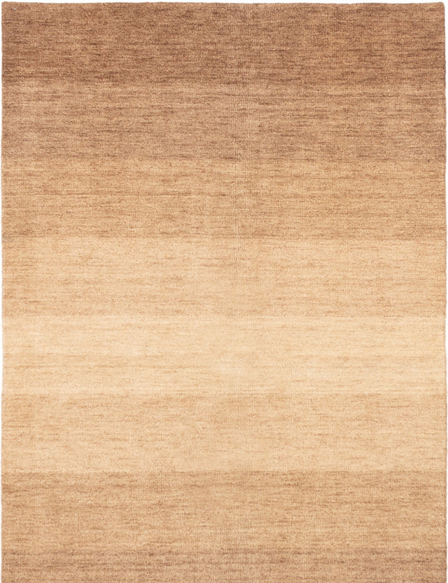 Hand-knotted Indian Casual  Transitional Luribaft-Gabbeh-Riz Area rug  Tan 5 x 8