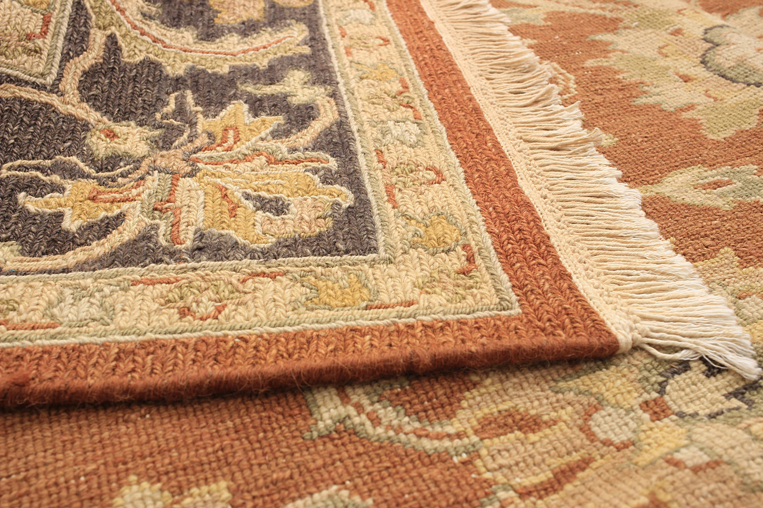 Flat-weave Pakistani Bordered Traditional Lahor-Finest Area