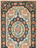 Hand-knotted Area rug Bordered, Flat-weaves & Kilims, Floral, Traditional Ivory