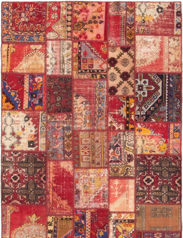 Hand-Knotted Area rug Bohemian, Southwestern, Transitional Red