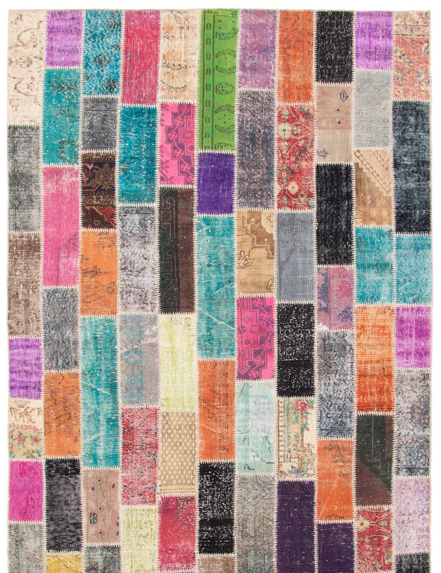 Hand-Knotted Area rug Bohemian, Overdyed, Southwestern, Transitional Grey, Pink