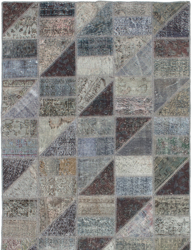 Hand-Knotted Area rug Bohemian, Southwestern, Transitional Grey