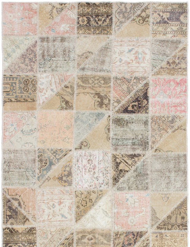Hand-Knotted Area rug Bohemian, Southwestern, Transitional Brown