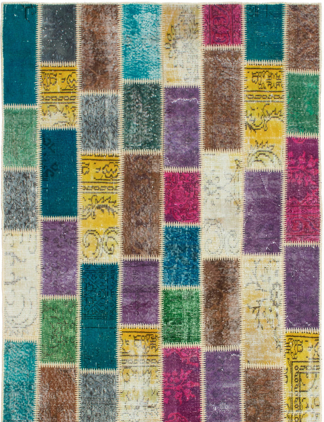 Hand-Knotted Area rug Bohemian, Southwestern, Transitional Brown, Green