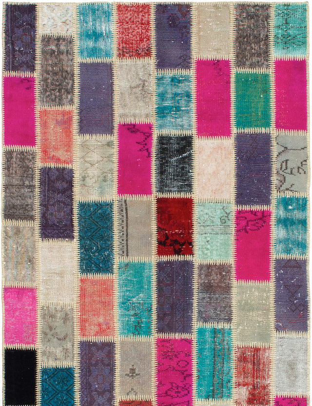 Hand-Knotted Area rug Bohemian, Southwestern, Transitional Grey, Pink