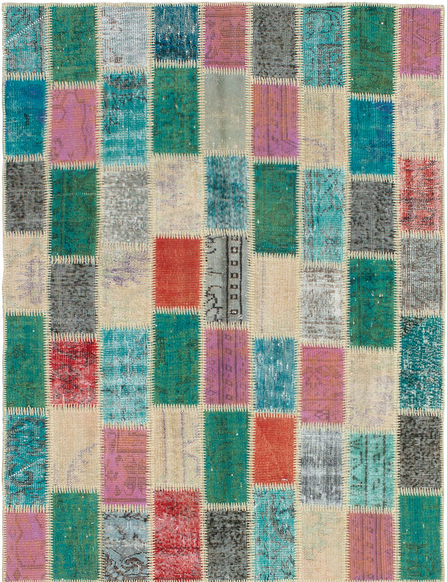 Hand-Knotted Area rug Bohemian, Southwestern, Transitional Green