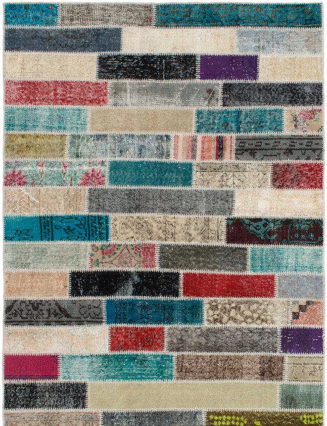 Hand-Knotted Area rug Bohemian, Southwestern, Transitional Green, Grey