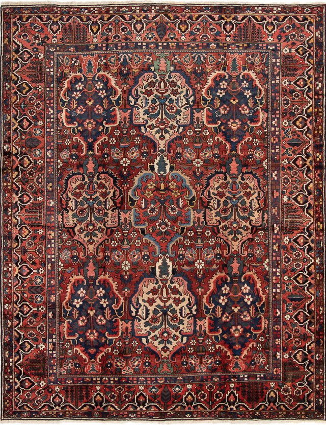 Hand-knotted Area rug Bordered, Persian, Traditional Multi, Red
