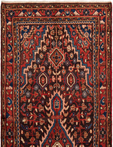 Hand-knotted Area rug Bordered, Floral, Persian, Traditional Blue