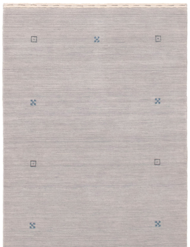 Hand-knotted Area rug Gabbeh, Tribal Blue