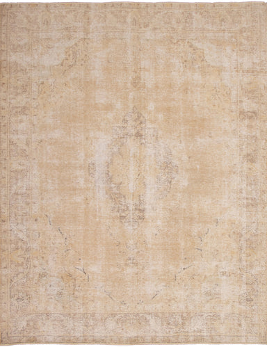 Hand-knotted Area rug Bordered, Floral, Traditional Ivory