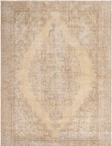 Hand-knotted Area rug Bordered, Floral, Traditional Yellow
