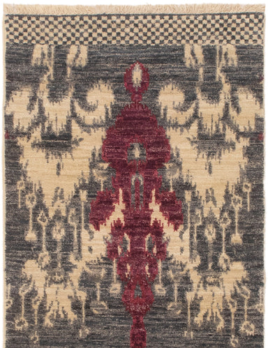 Hand-knotted Area rug Casual, Contemporary, Transitional