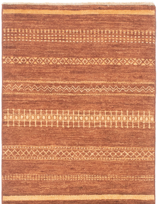 Hand-knotted Area rug Casual, Stripes, Transitional