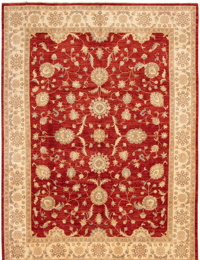 Hand-knotted Area rug Bordered, Floral, Traditional Brown, Green