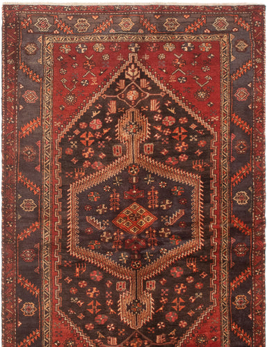Hand-knotted Area rug Bordered, Persian, Traditional Blue, Brown