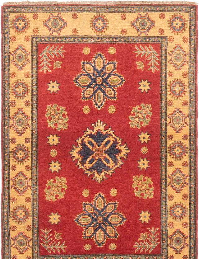 Hand-knotted Area rug Bordered, Traditional Brown, Ivory