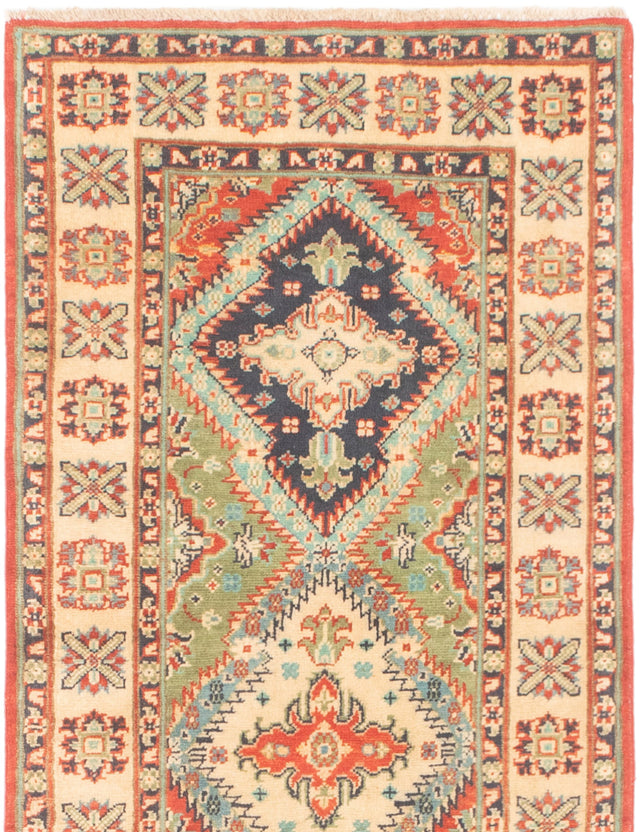 Hand-knotted Area rug Bordered, Geometric, Traditional Brown, Ivory