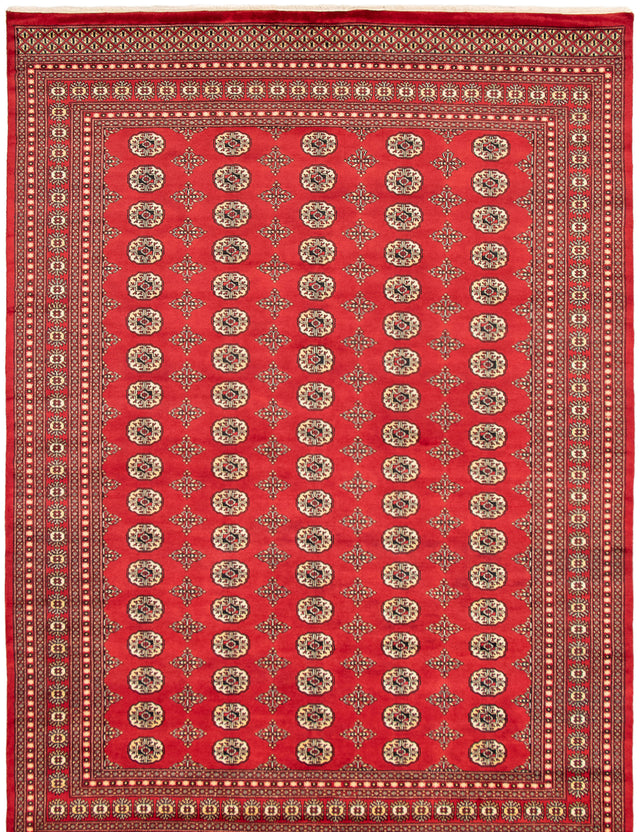 Hand-knotted Area rug Bordered, Traditional, Tribal Red