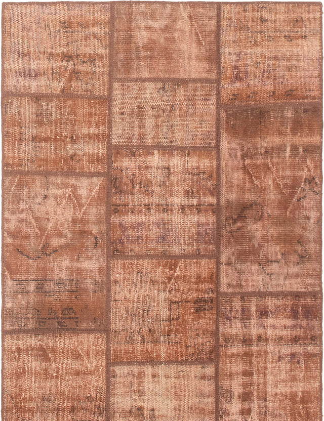 Hand-knotted Area rug Casual, Overdyed, Transitional Brown