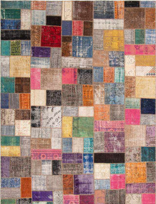 Hand-knotted Area rug Casual, Overdyed, Transitional Multi