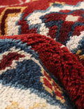 Hand-knotted Area rug Bordered, Geometric, Southwestern, Traditional