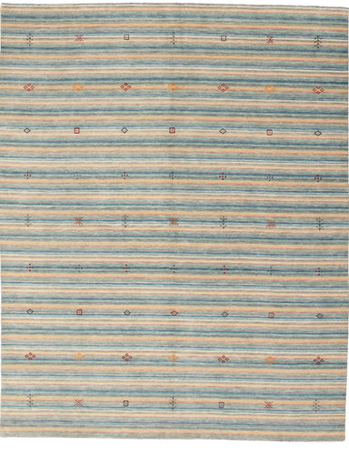 Hand-knotted Area rug Gabbeh, Stripes, Tribal