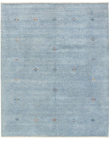 Hand-knotted Area rug Gabbeh, Solid, Tribal