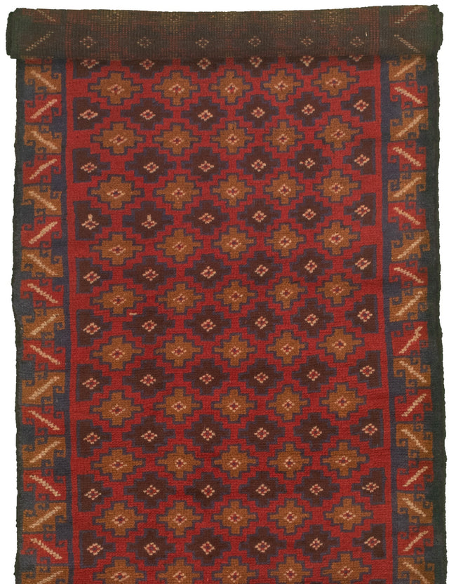 Hand-knotted Area rug Bordered, Tribal