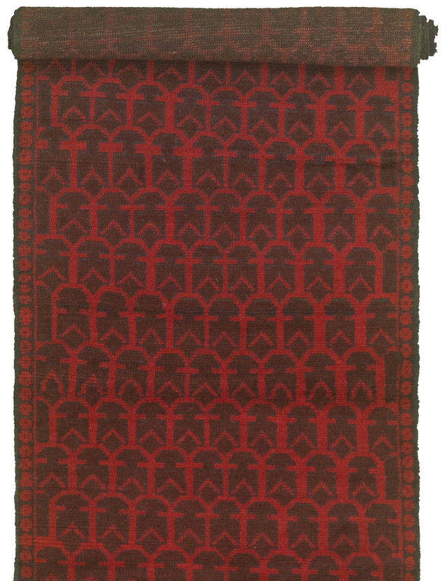 Hand-knotted Area rug Tribal