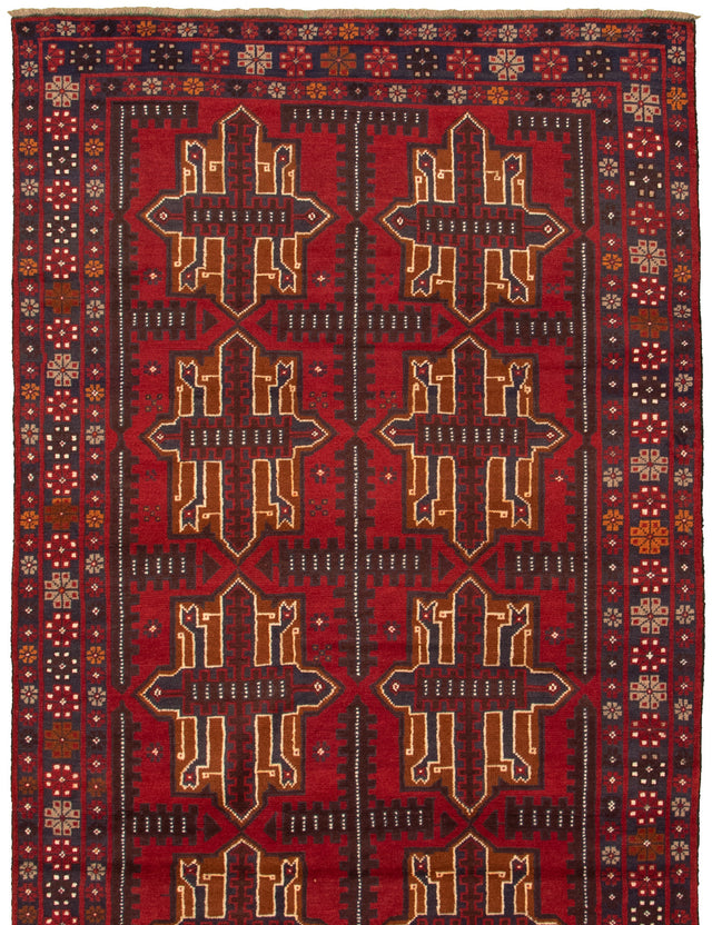 Hand-knotted Area rug Bordered, Geometric, Tribal
