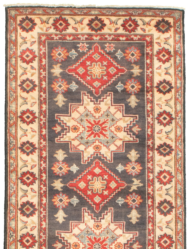 Hand-knotted Area rug Bordered, Geometric, Traditional