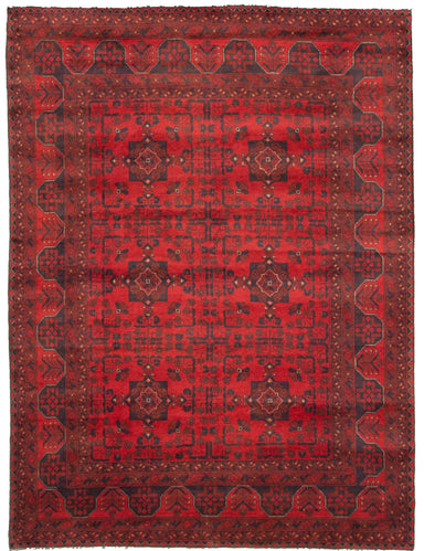 Hand-knotted Area rug Traditional, Tribal Red