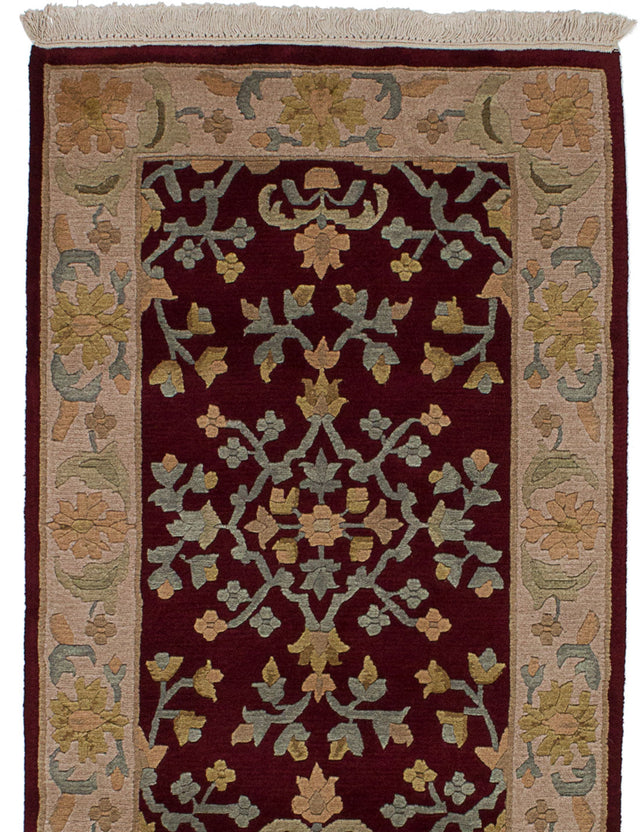 Hand-knotted Area rug Transitional Red