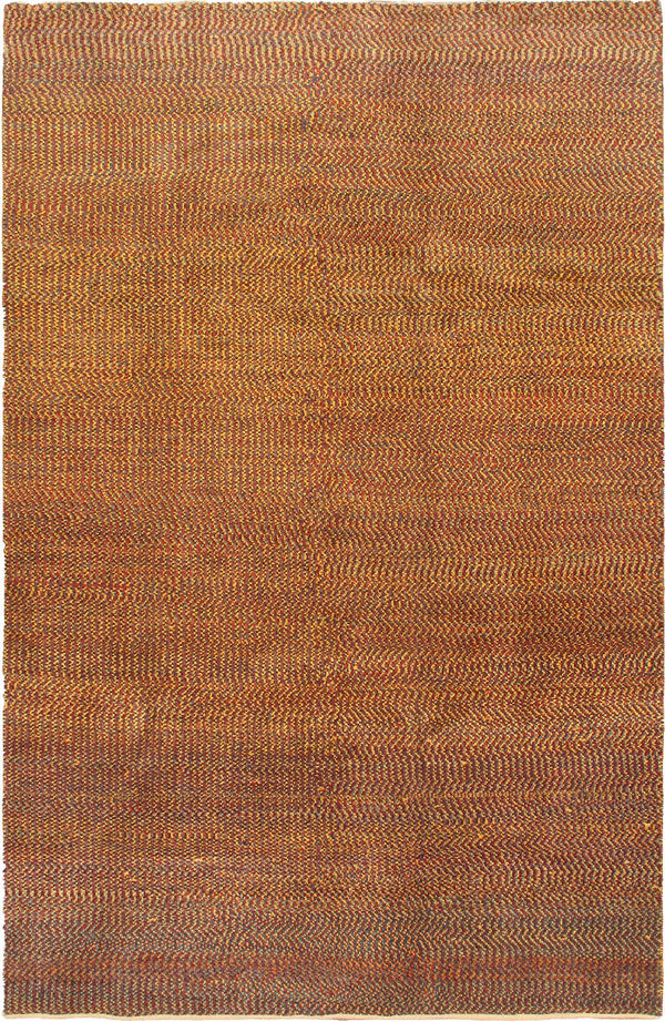 "Hand-knotted  Contemporary Persian-Gabbeh Area rug  Dark Burgundy, Light Gold 6'0 x 9'1"" """