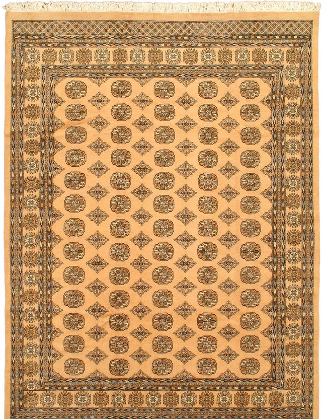 Hand-knotted Area rug Traditional Ivory, Multi