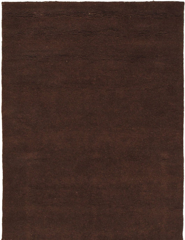 "Hand-knotted moroccan Contemporary Casablanca-Beni Area rug  Dark Brown 5'7 x 7'7"" """
