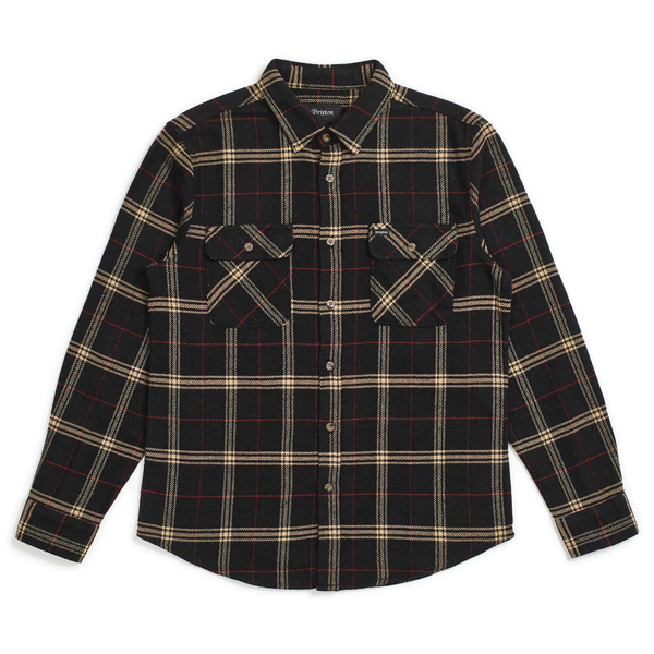 Brixton Bowery L/S Flannel - Black/Ivory